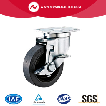 Plate Side Braked Conductive TPR Caster