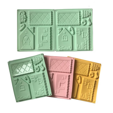 New Product for Silicone Cake Mold Grinber House shape silicone chocolate mould export to Italy Wholesale