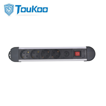 German 4 way power strip with surge protector