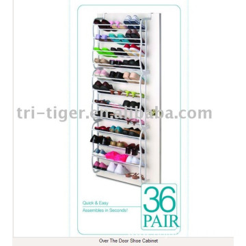 36 pairs Wall mounted Aluminum Shoe Rack
