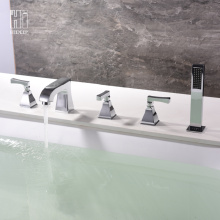 Personlized Products for Bathtub Faucet HIDEEP Full Copper Chrome Bathroom Bathtub Faucet export to Germany Exporter