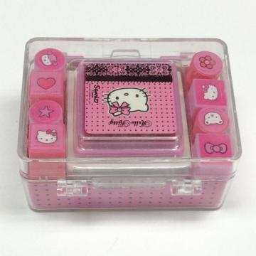 Plastic cartoon portable children's stamp