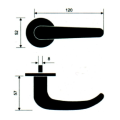 Stainless Steel 304 Steel Gate Door Handle