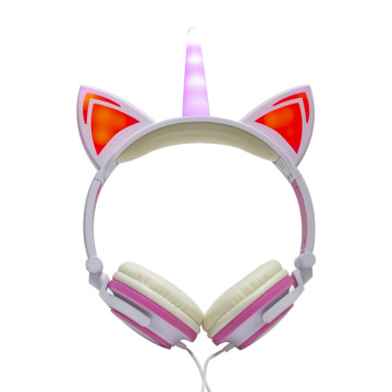 Light Up Laptop Used Unicorn Wired Headphones