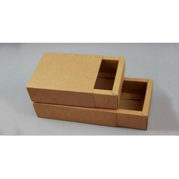 Foldable Flat Pack Kraft Paper Sliding Drawer Boxes