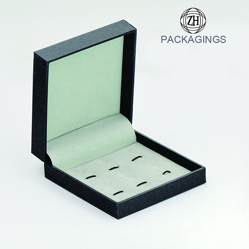 Luxury square black cufflink box gift