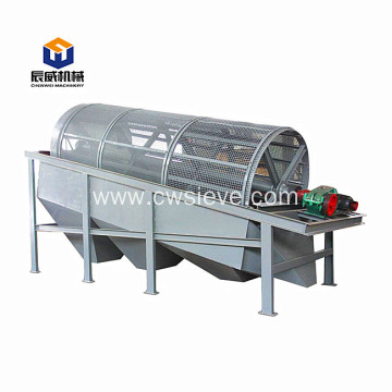 high quality wood powder trommel drum grading sieve