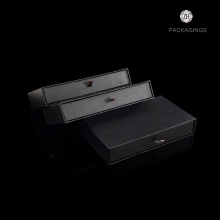 10 Years for Paper Box Packaging High end black drawer sliding packaging box supply to Iraq Factory