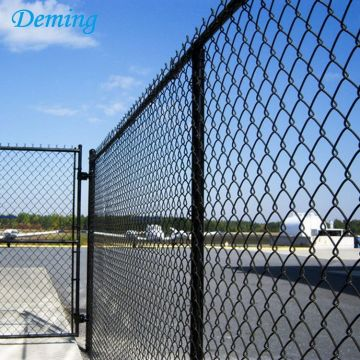 Black PVC Per Sqm Weight Chain Link Fence