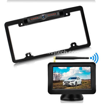 License Frame Camera with Monitor 5inch