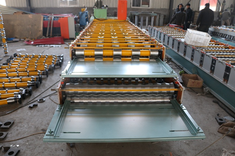 DX840850 corrugated ibr double layer roll forming machine