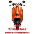 SCOMADI TL200 Liquid Cooled Scooter Engine Parts Complete Scooter Spare Parts Original Quality