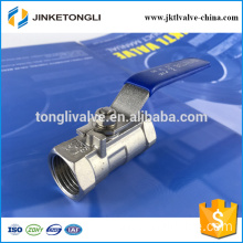 JKTL1B024 spring loaded 1pc forged mini cast iron ball valve applications