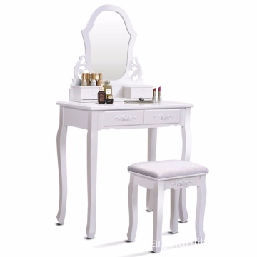 One Mirrored Simple Home wooden Dressing Table