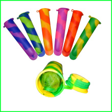 Hot Reusable Silicone Ice Pop Molds with Lid