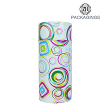 Custom cheap white paper apparel tube packaging