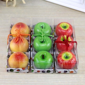 Paraffin wax scent simulation fruit shape candle