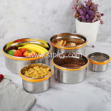 Stainless Steel Food Container with Silicone Lid