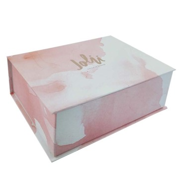 Pink Luxury Custom Cosmetic Box with Hot Stamping