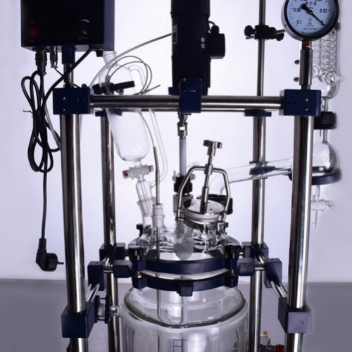 Electric heating jacketed glass reactor 10l