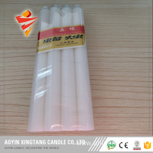 25cm Long Burning White Smooth Candle