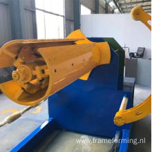 10 tons uncoiler with car 10 tons decoiling machine with car