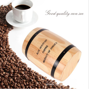 Pine wood coffee bean barrel