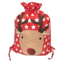 OEM for Christmas Sack,Personalised Christmas Sack,Large Christmas Sacks Manufacturer in China Printed reindeer christmas sack supply to Russian Federation Manufacturers