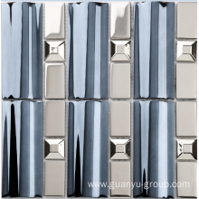 stainless steel and glass mix mosaic