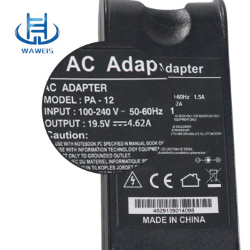 90w laptop charger 19.5v 4.6a for dell