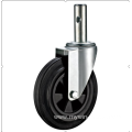 200mm European industrial rubber  swivel caster without  brake