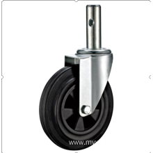 100 European industrial rubber  swivel caster without  brake