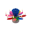 Fancy Flower Music Candle voor Child Birthday Party