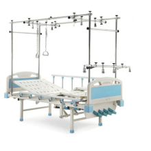 Quadrilateral hospital orthopedic traction bed