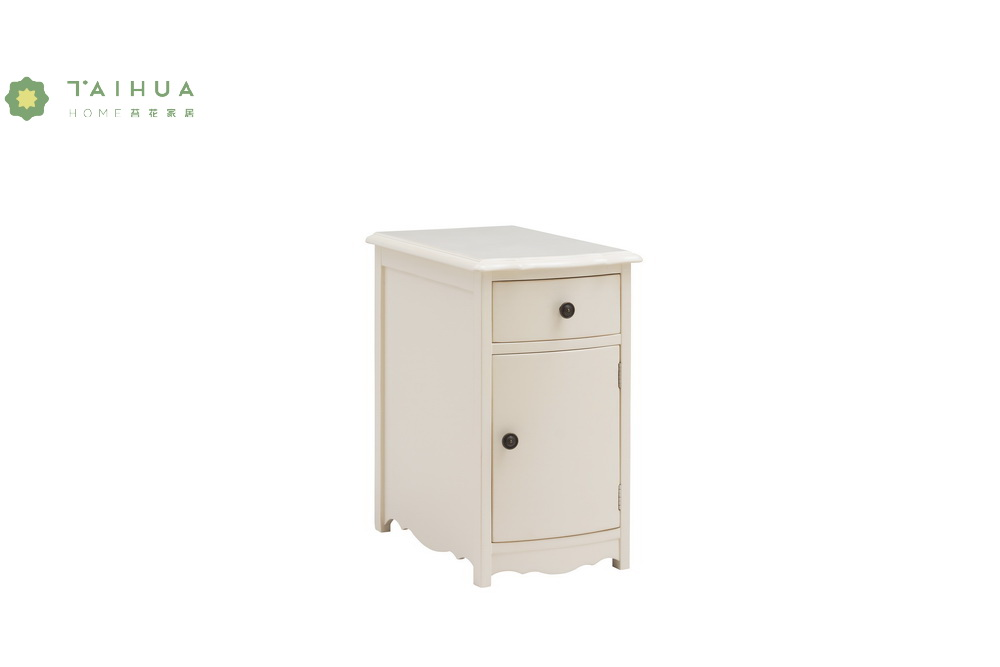 Ivory White Integrated Night Stand
