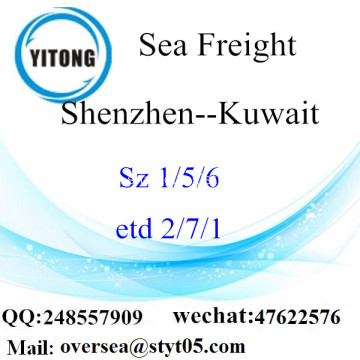 Shenzhen Port LCL Consolidation To Kuwait