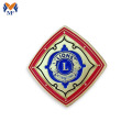 Square shape custom lion button badge
