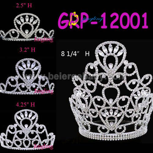 Rhinestone special pageant crown GRP-12001