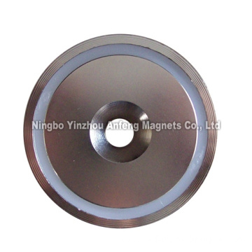 "Neodymium Pot Magnets 2.5"" diameter"
