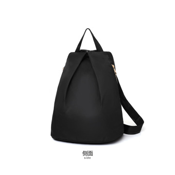 High quality Washed Black PU Women's Causal Backpack