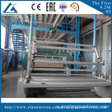 High efficiency AL-2400 S 2400mm pp non woven fabric making machine with low price