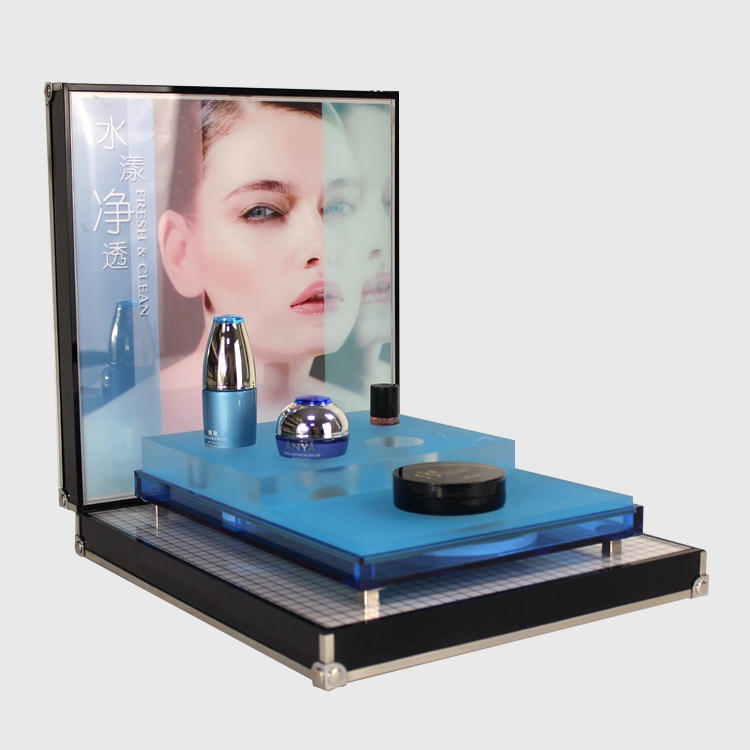 modern glass display showcase cosmetic shop counter