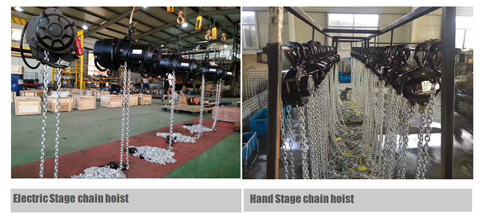electric stage chain hoist 1 ton