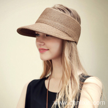 Sunbathing summer visor straw hat gored hat