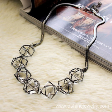 Alloy Ball Choker Chain Zircon Necklace Trendy Jewelry