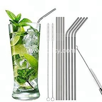 304 Stainless Steel Straws With Cleaning Brush