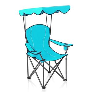 Folding recliner Camp Chairs with Shade Canopy