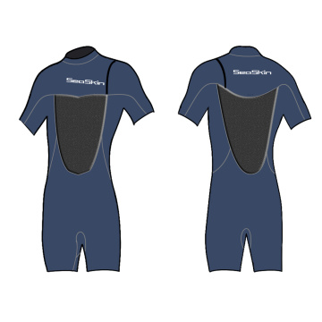Seaskin Zipperless Mens Shorty Wetsuit for Wave Surfing
