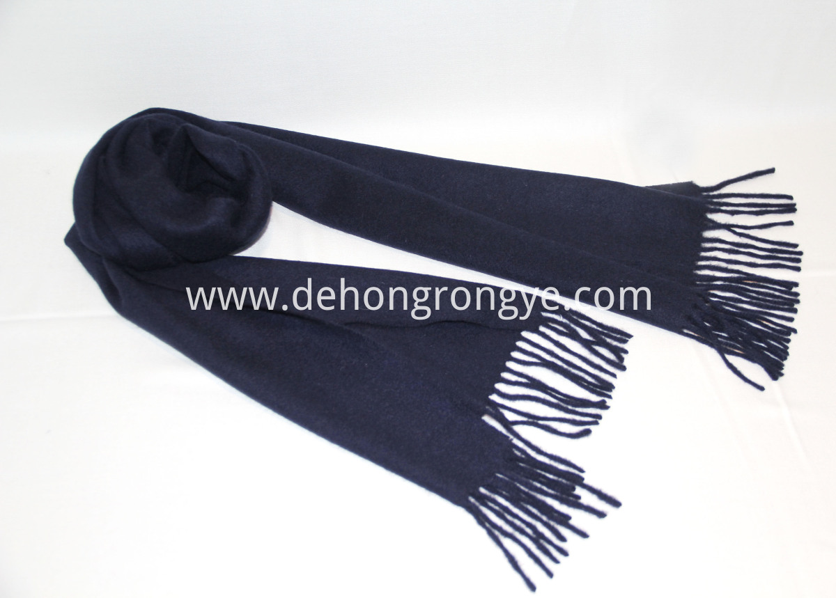 Navy Blue Cashmere Scarf