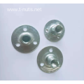 Full thread stamping 3-hole zinc plated nuts